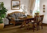 Tischsofa / Küchensofa / Esszimmersofa Eiche massiv, gelaugt, rustikal oder auch hell und modern. Ein schönes Sofa für den Esstisch