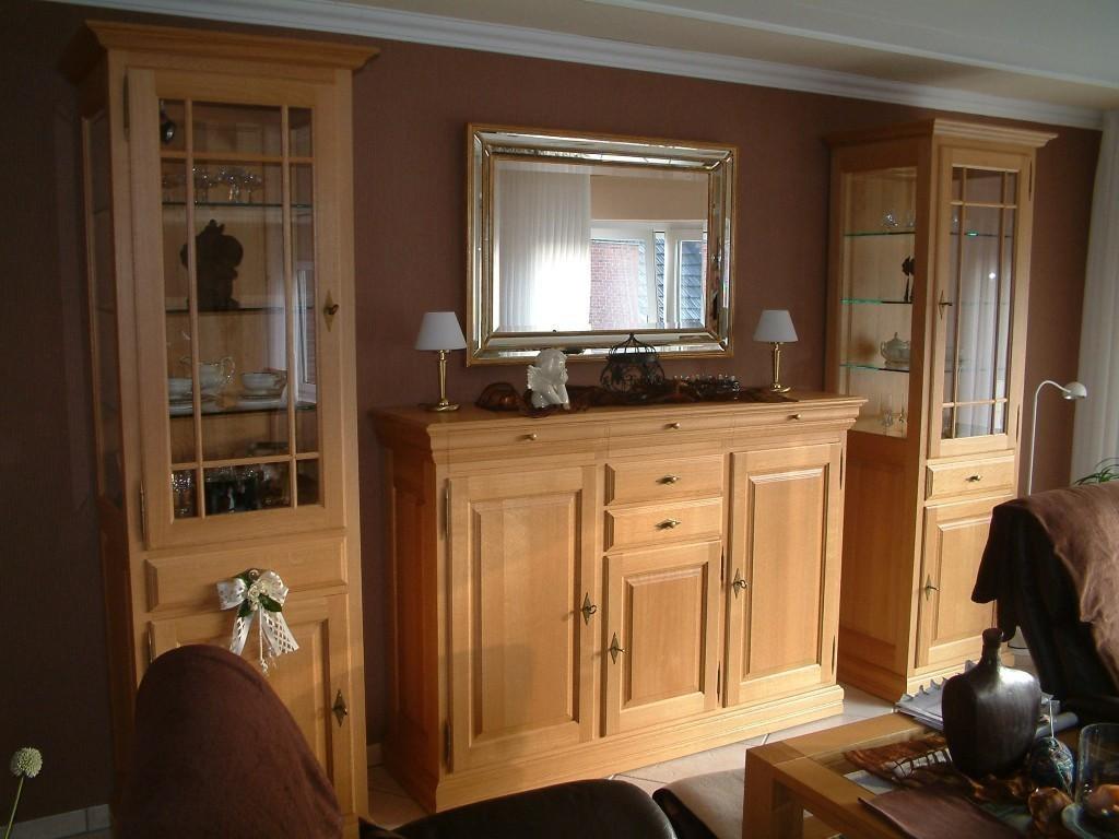 s ule vitrine landhaus mit hochanrichte highboard. Black Bedroom Furniture Sets. Home Design Ideas