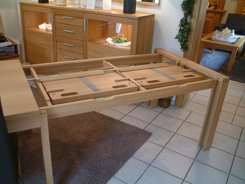 e tisch kantatus mit stollenauszug masstisch in eiche asteiche buche kirschbaum kernbuche. Black Bedroom Furniture Sets. Home Design Ideas