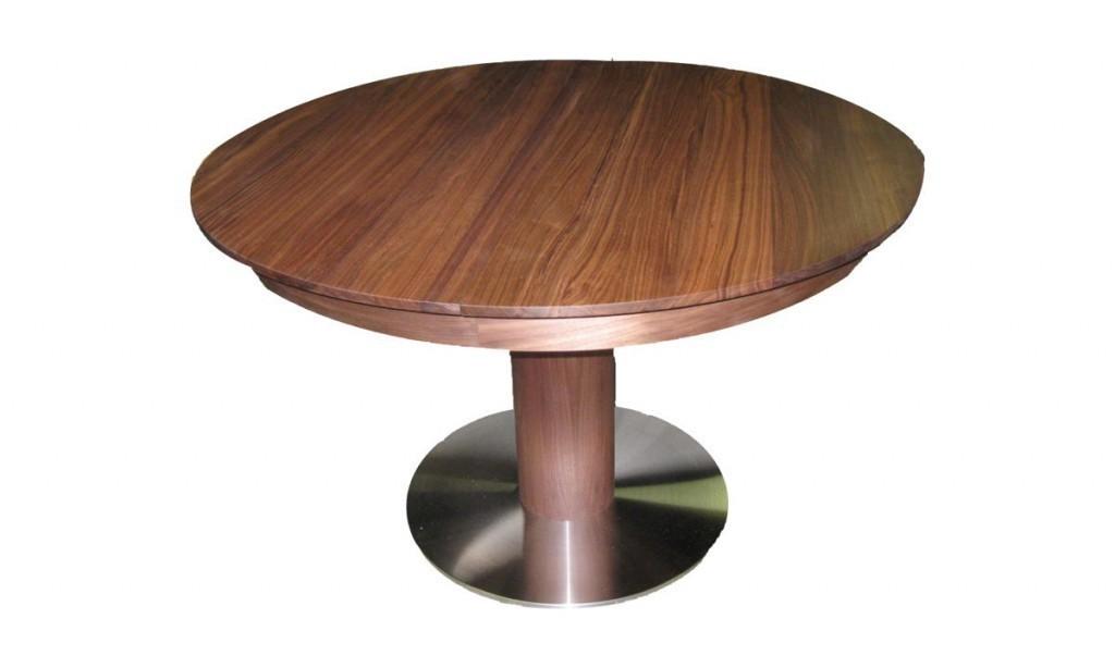 runder esstisch massiv rustikaler tisch aus alten balken. Black Bedroom Furniture Sets. Home Design Ideas
