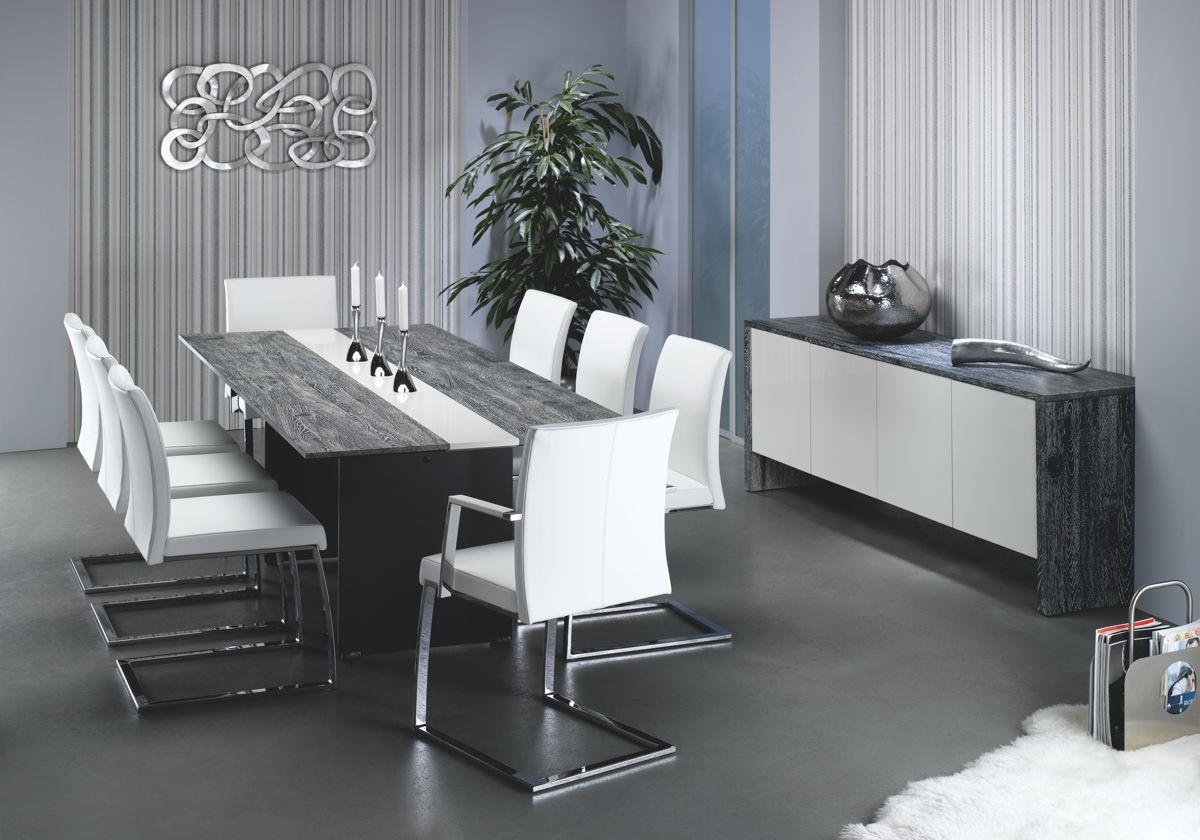 moderner e tisch tavolo mit metall untergestell mit. Black Bedroom Furniture Sets. Home Design Ideas