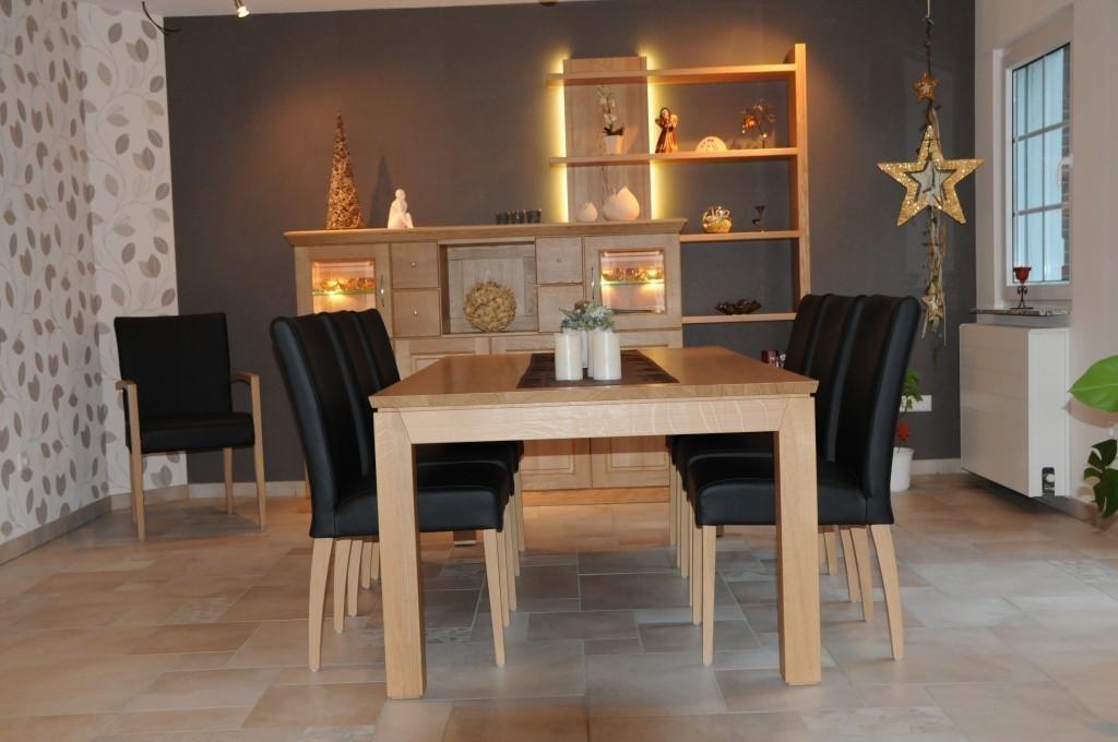 e tisch adraton mit stollenauszug in eiche asteiche. Black Bedroom Furniture Sets. Home Design Ideas