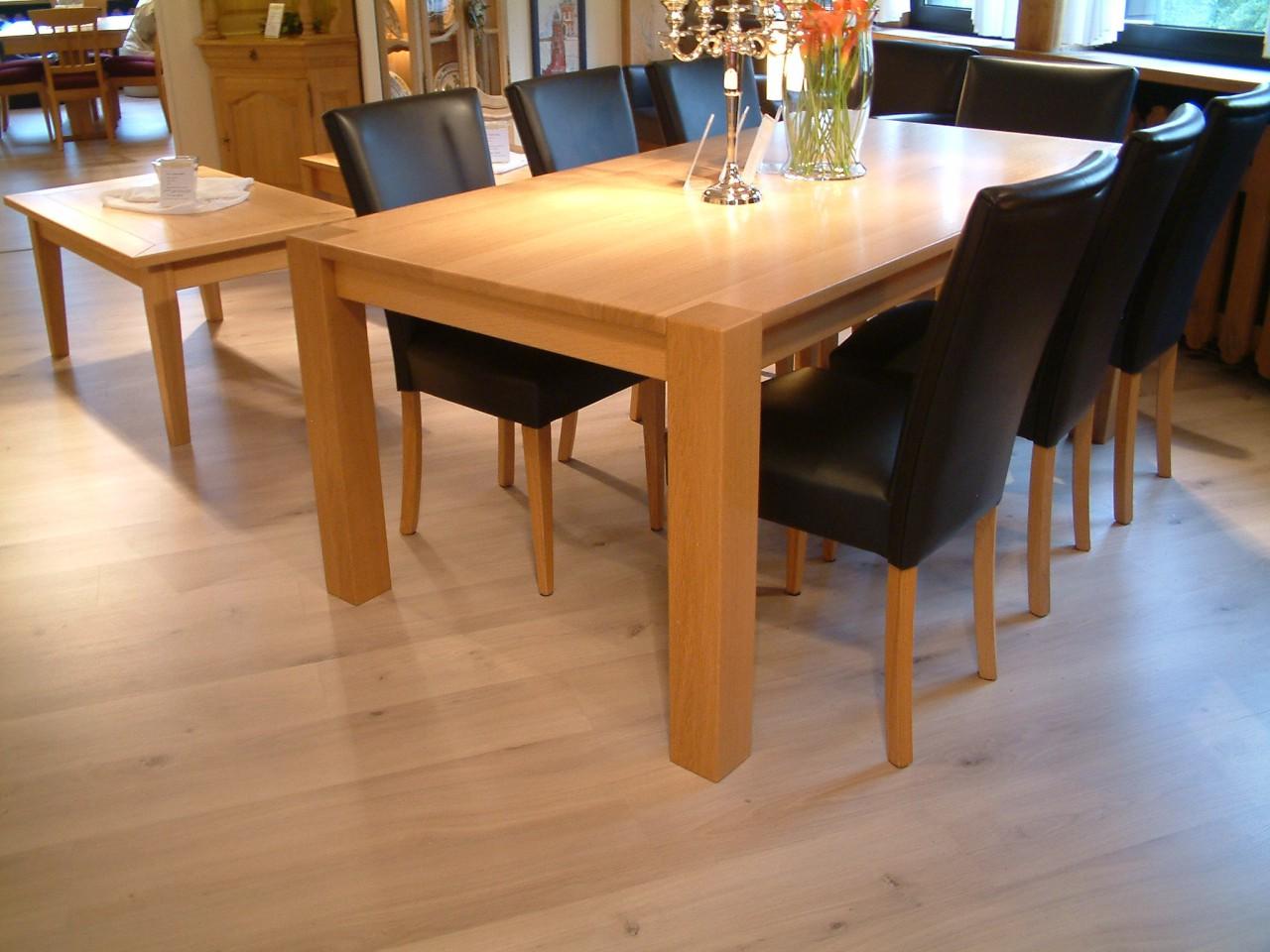 4 fu esstisch variato 190 x 100 cm mit 2 ansteckplatten der masstisch in eiche asteiche. Black Bedroom Furniture Sets. Home Design Ideas