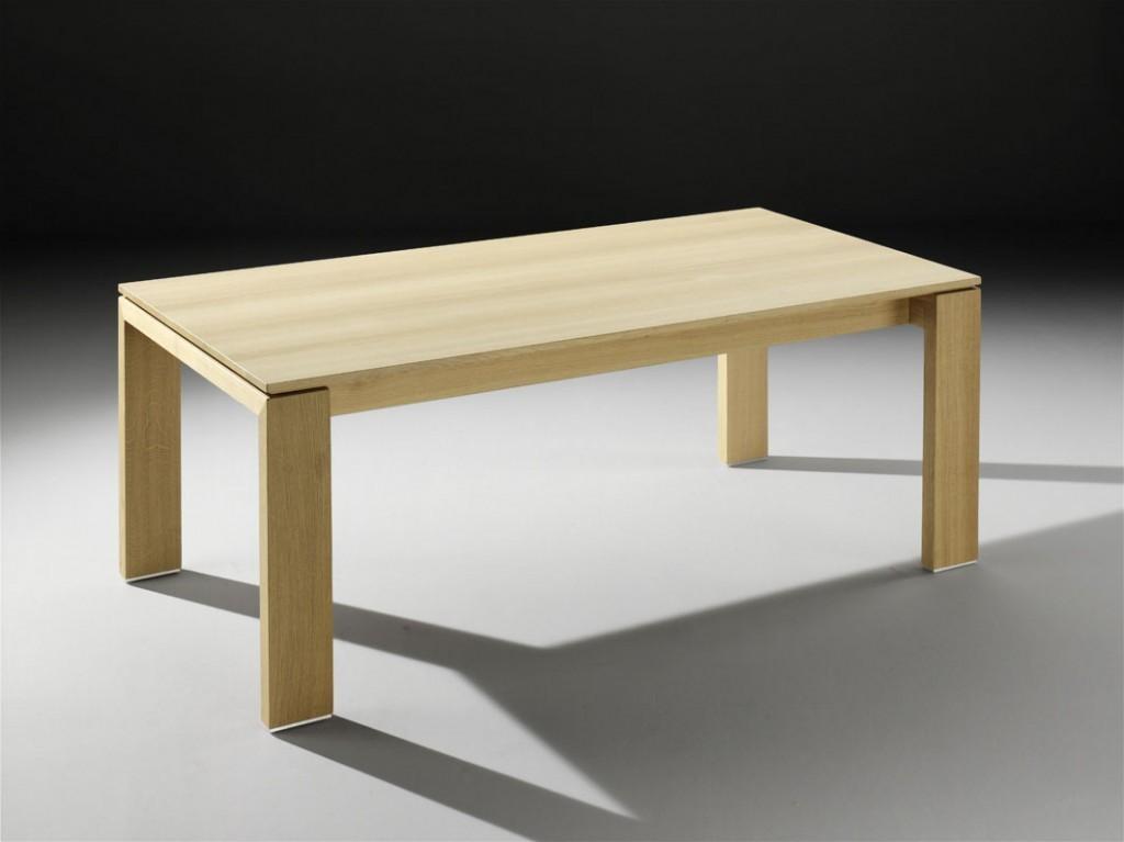 Moderner vollholz esstisch quardo mit stollenauszug der for Esstisch vollholz
