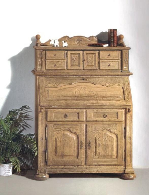 sekret r schreibschrank artus mit kleinem aufsatz breite 108 cm eiche massiv gelaugt. Black Bedroom Furniture Sets. Home Design Ideas