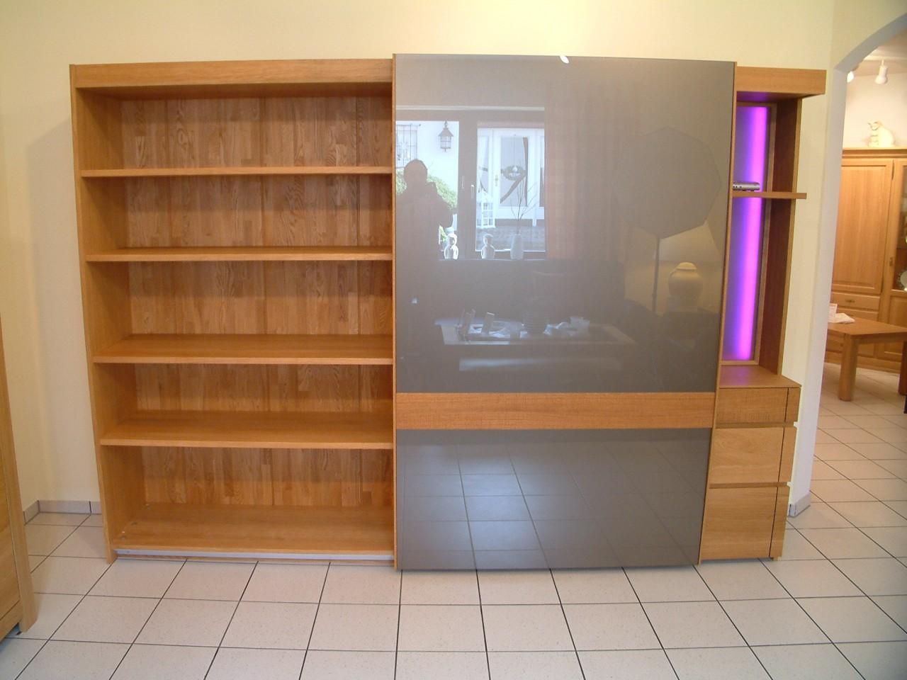 vollholz schrank moderna 285 in eiche ge lt mit 1. Black Bedroom Furniture Sets. Home Design Ideas