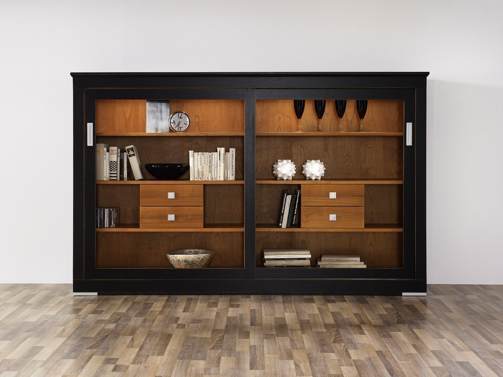 anrichte highboard sideboard linum mit schiebet ren ein modernes massivm bel in vielen. Black Bedroom Furniture Sets. Home Design Ideas