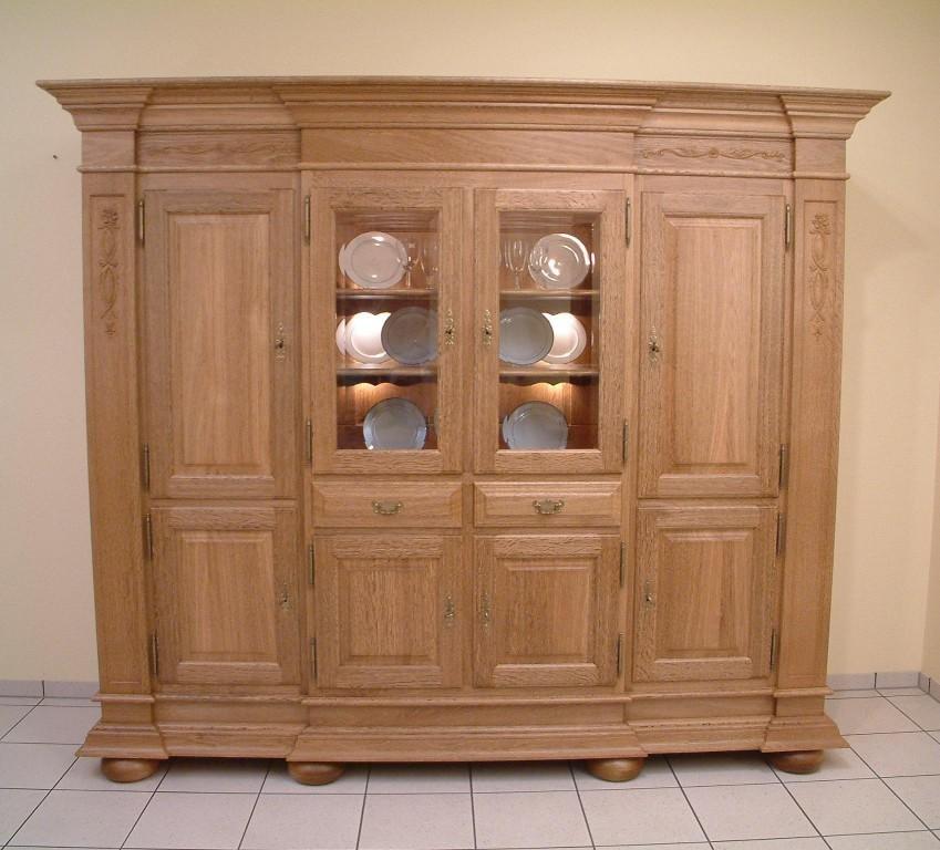 schrank wohnzimmerschrank eiche massiv modell niburg. Black Bedroom Furniture Sets. Home Design Ideas
