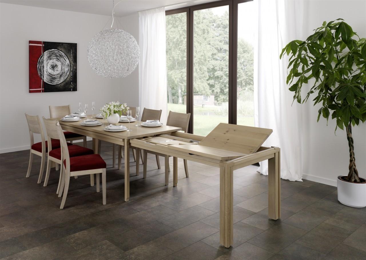 e tisch malte mit stollenauszug in eiche asteiche buche kirschbaum oder kernbuche der. Black Bedroom Furniture Sets. Home Design Ideas