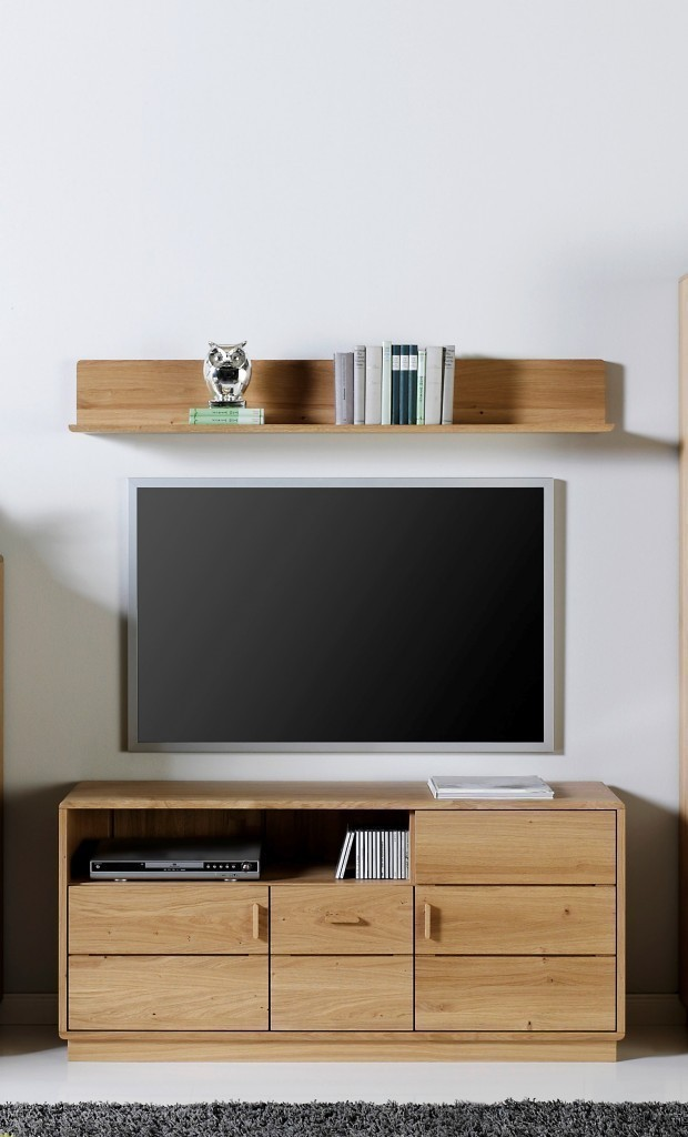 lowboard tv anrichte fernsehunterteil carla in eiche oder kernbuche massiv modern moderne. Black Bedroom Furniture Sets. Home Design Ideas