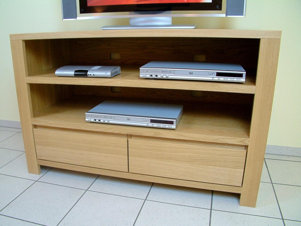 Moderne tv anrichte lowboard in eiche massiv breite 120 - Moderne anrichte ...
