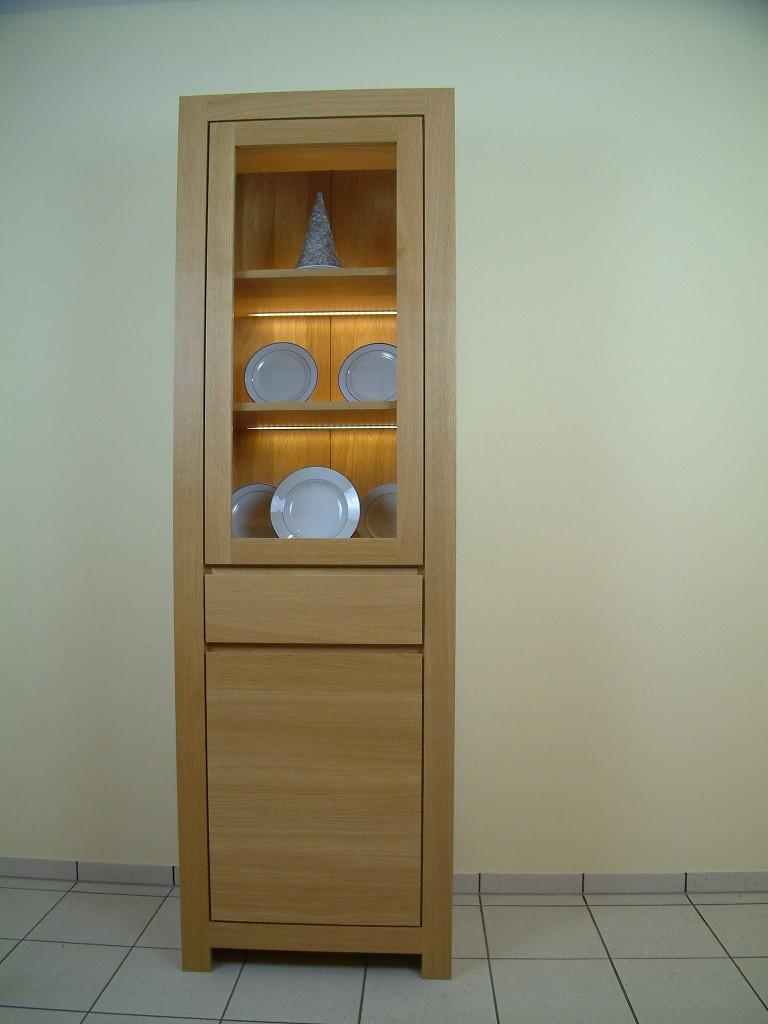 moderne vollmassive vitrine schermbeck breite 65 cm eiche. Black Bedroom Furniture Sets. Home Design Ideas